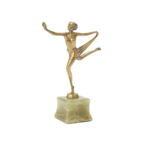 an art deco bronze model of a scarf dancer by josef lorenzl SIGNED IN CAST, CIRCA 1925