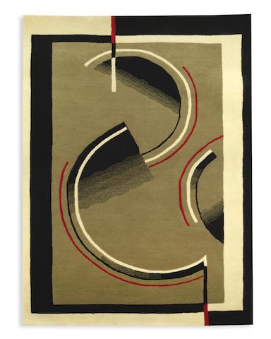 an art deco-style hand-tufted wool rug after a design by marion dorn TWENTIETH/TWENTY-FIRST CENTURY