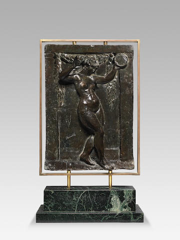 After Pierre-Auguste Renoir (1841-1919) and Louis Morel Danseuse au tambourin I 62 x 44.1cm (24 7/16 x 17 3/8in) (without the base) (Conceived in plaster in 1918 and cast in bronze in 1950 in an edition of 20.)