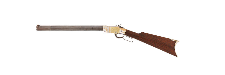 A rare .41 'Volcanic' lever-action carbine by New Haven Arms Company (circa 1857-60)