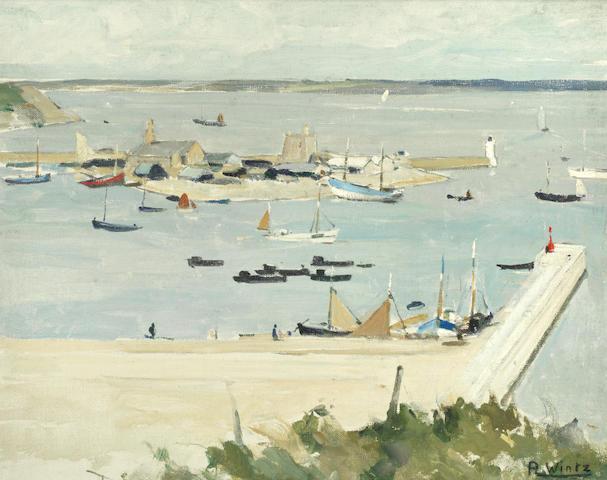 Raymond Wintz (French, 1884-1956) Breton harbour