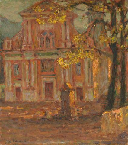 HENRI LE SIDANER (1862-1939) L'église, Dolceacqua (Painted in 1911)