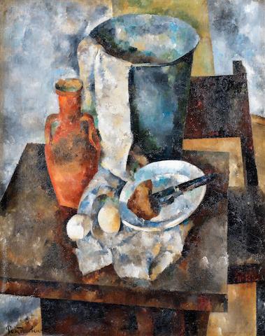 Vasily Rozhdestvensky (1884-1963) Still life with a clay jug