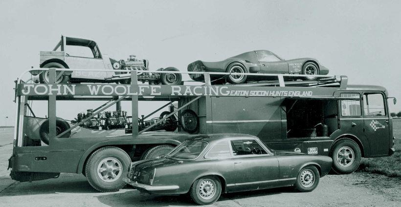 The Ex-Maserati works team, Reventlow Automobiles Inc Scarab works team, Shelby American Cobra works team, Alan Mann Racing, David Piper Racing, Steve McQueen movie 'Le Mans', JCB Historic racing team,1956 FIAT-Bartoletti Tipo 642 Racing Car Transporter