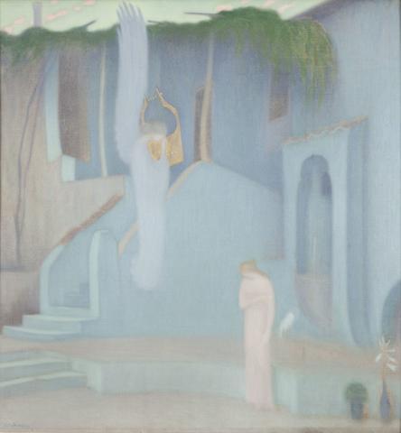 Constantinos Parthenis (Greek, 1878-1967) The Annunciation 85.5 x 80 cm.