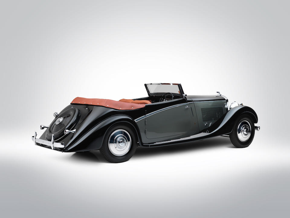 Ordered new by André Embiricos ,1936  Bentley 4¼-Litre Cabriolet  Chassis no. B260GA