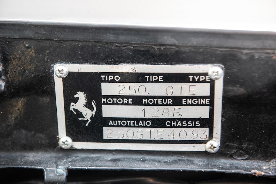 1963 Ferrari 250 GTE 2+2 Series III Coupé  Chassis no. 4093 GT Engine no. 4093 GT
