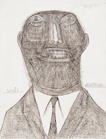 Francis Newton Souza (India, 1924-2002) Louis Armstrong