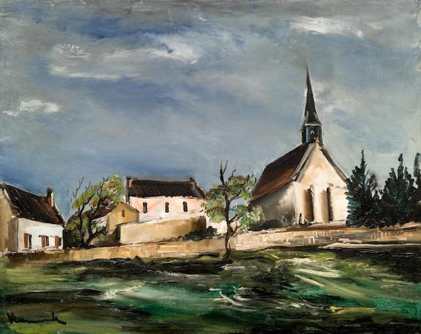 Maurice de Vlaminck (1876-1958) L'église du village (Painted circa 1927)