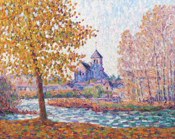FRANCIS PICABIA (1879-1953) L'église de Montigny, effet d'automne (Painted in 1908)