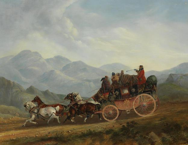 Charles Cooper Henderson (British, 1803-1877) Crossing Shap Fells, The Royal Mail