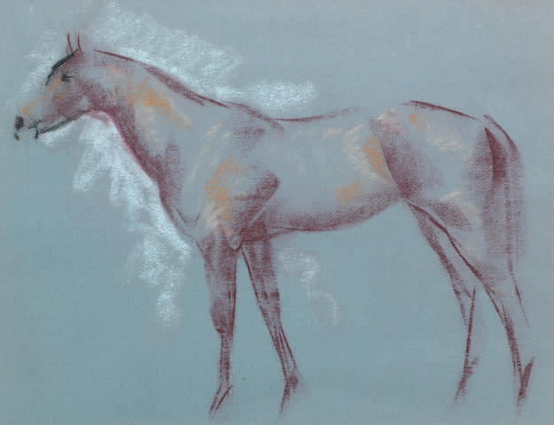 John Rattenbury Skeaping R.A. (British, 1901-1980) Young Kudo  (Together with another horse study in pastel (2) )