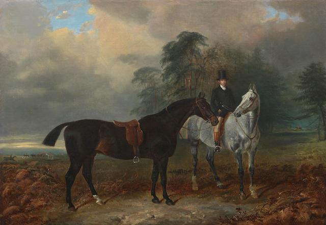 James Walsham Baldock (British, 1822-1898) The Hunters at Rest
