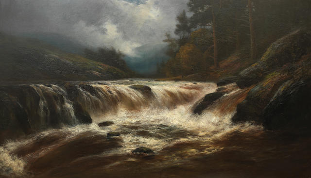 Scottish School, 20th century A River in Spate