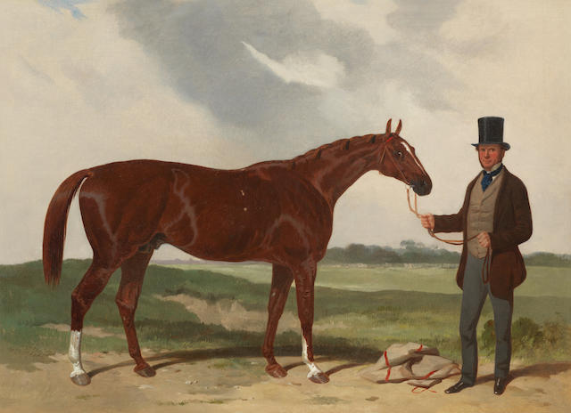 Attributed to Harry Hall (British, 1815-1882) Horse with groom
