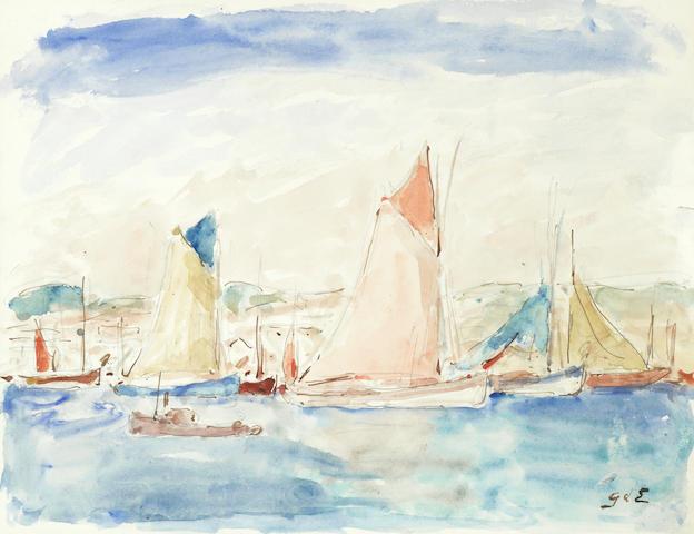 Georges D'Espagnat (French, 1870-1950) Les voiliers