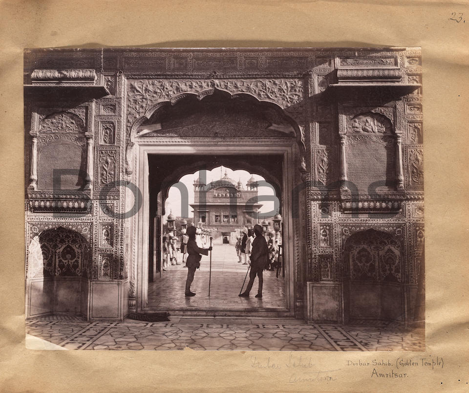 The Lockwood Kipling Album: An album of photographs of Amritsar, Lahore and other sites in India compiled by John Lockwood Kipling (1837-1911) Signed and dated Lahore, 1888