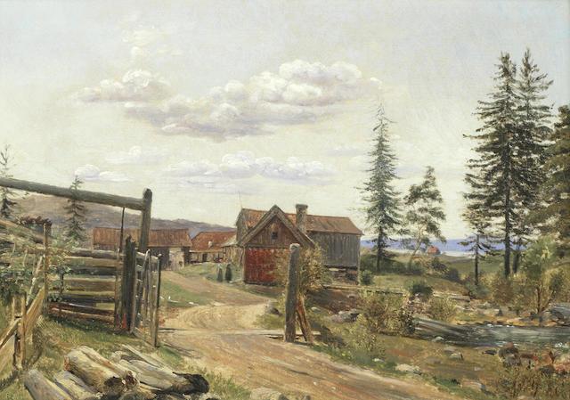 Wilhelm Nicolai Marstrand (Danish, 1810-1873) Landscape at Dalarna