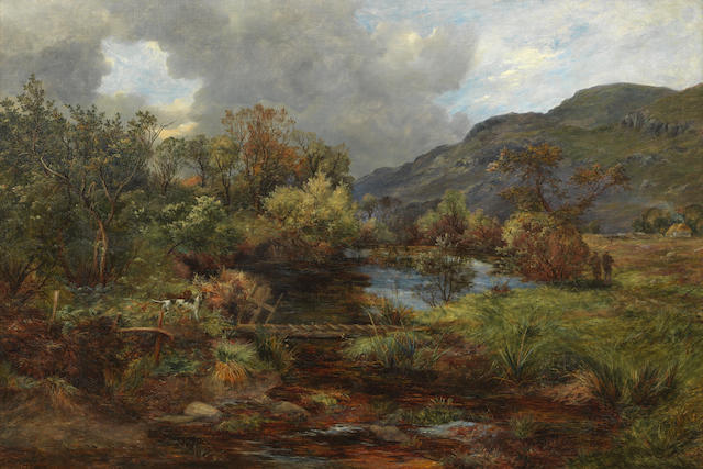 James Faed Jnr (British, 1856-1920) Rough Shooting in the Trossachs