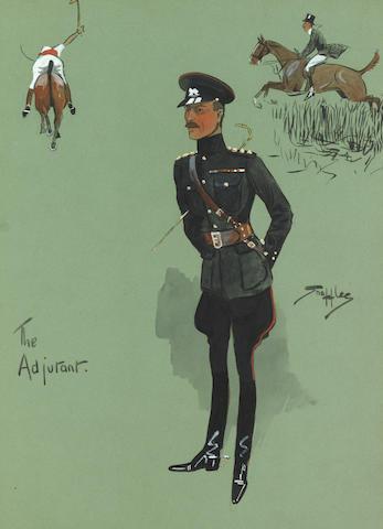 Charlie Johnson Payne, 'Snaffles' (British, 1884-1967) The Adjutant 33 x 24 cm. (13 x 9 7/16 in.)
