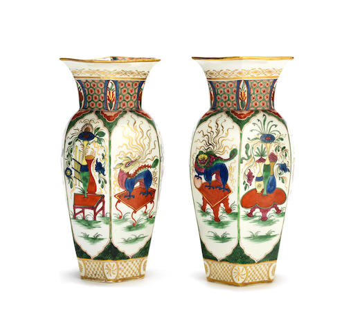 An important pair of Worcester vases, circa 1770-75