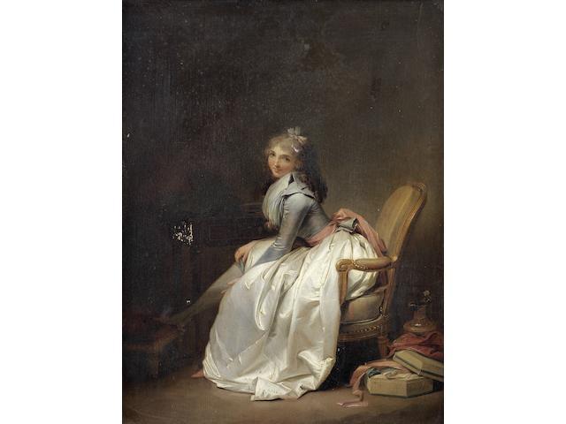 Louis-Léopold Boilly (La Bassée 1761-1845 Paris) La Jarretière