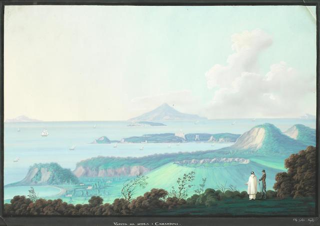 Neapolitan School, 19th Century Veduta da Sopra i Camandoli (image)