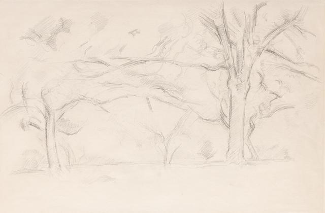 Paul Cézanne (1839-1906) Arbres au Jas de Bouffan (Executed circa 1892 - 1895)