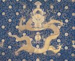 An extremely rare Imperial 'Twelve Symbol' Dragon Robe, jifu Qianlong