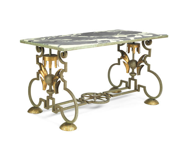 Attributed to Gilbert Poillerat (French, 1902-1988); A Low Occasional Table CIRCA 1943