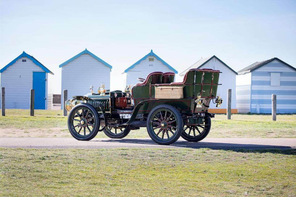 Ex-1903 Paris-Madrid Tour; current Regent Street Motor Show Concours champion,1903 Darracq 24hp Model JJ Rear-entrance Tonneau  Chassis no. 4294