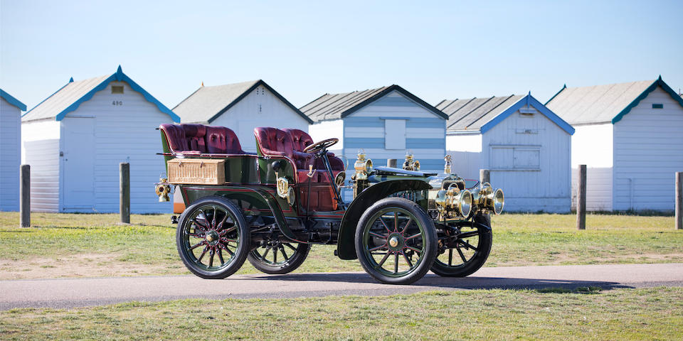 Ex-1903 Paris-Madrid Tour; current Regent Street Motor Show Concours champion,1903 Darracq 24hp Model JJ Rear-entrance Tonneau  Chassis no. 4294