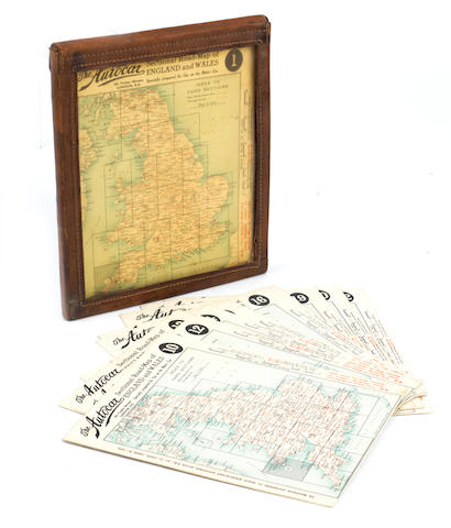 An Edwardian cased set of 24 road maps of England & Wales, issued by The Autocar,
