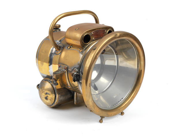 A Lucas 'Motolite' No.384 self-generating acetylene headlamp,