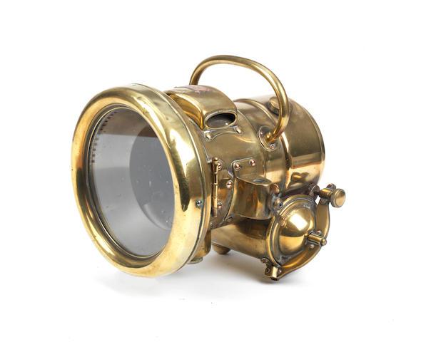 A Lucas 'Landalite' No.T54 self-generating acetylene headlamp,