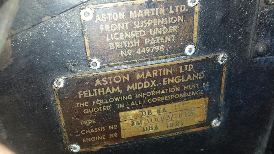 1958 Aston Martin DB MkIII Sports Saloon  Chassis no. AM300/3/1612