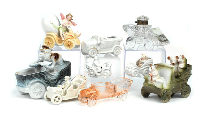 Nine veteran motoring fairings, souvenirs and crested ware and decorative ceramics,  ((9))