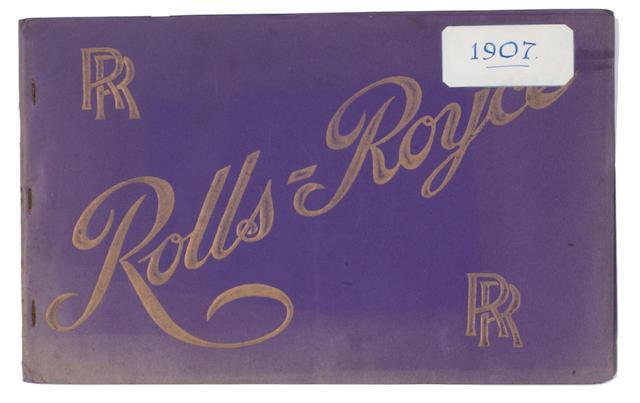 A Rolls-Royce sales catalogue, 1907,