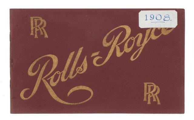 A Rolls-Royce sales catalogue, 1908,