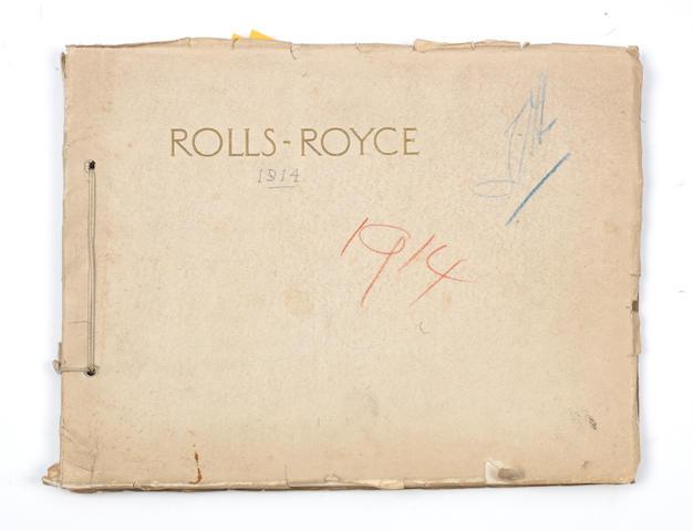 A Rolls-Royce sales catalogue, 1914,