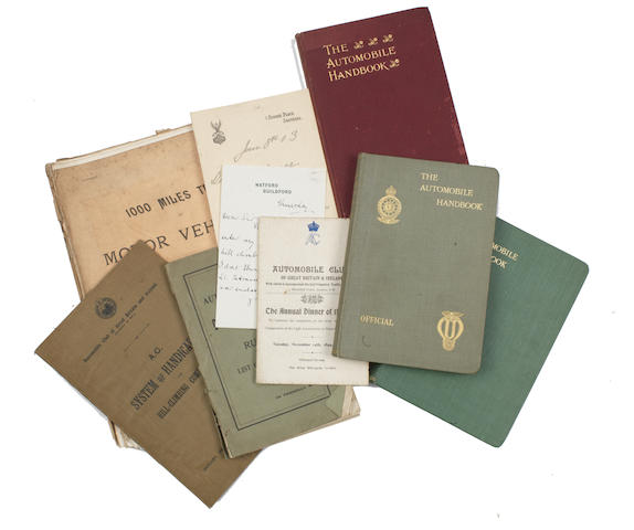 Automobile Club of Great Britain & Ireland printed booklets and ephemera,  ((Qty))