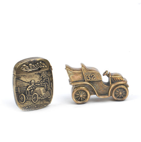 Two Veteran Motoring Vesta cases, Edwardian,   ((2))