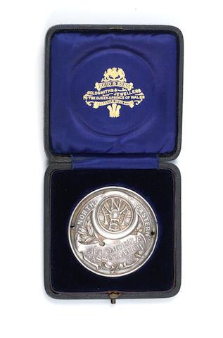 A 1907 North Eastern Automobile Association - Ragpath Side Hill Climb winner's medal,