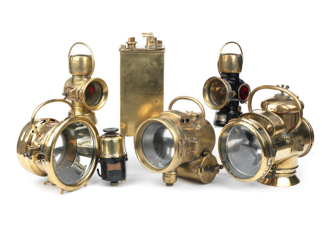 A Lucas 'King of the Road' No.986 acetylene headlamp,   ((2))