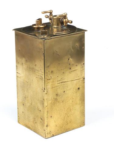 A 'Phare Ducellier' acetylene generator,