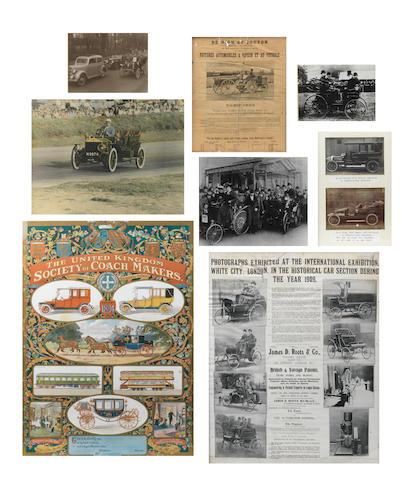 Assorted framed and glazed ephemera and photographs,  ((Qty))