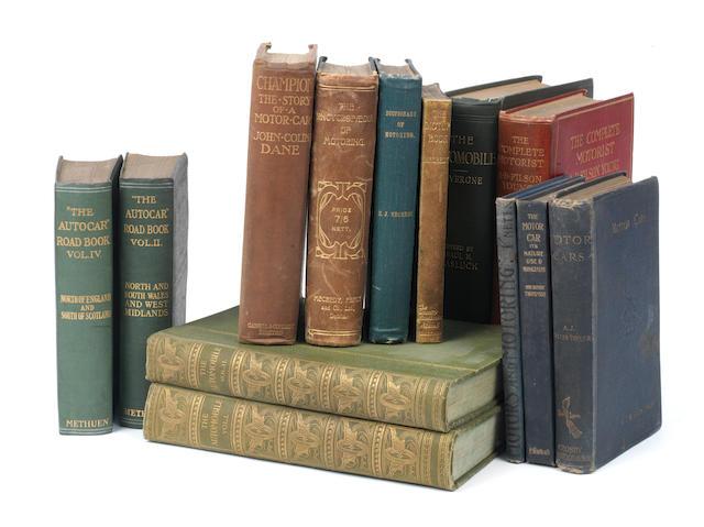 Fourteen assorted motoring books,  ((14))