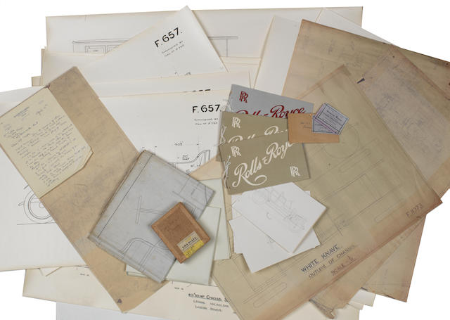Assorted Rolls-Royce technical illustrations and other ephemera  ((Qty))