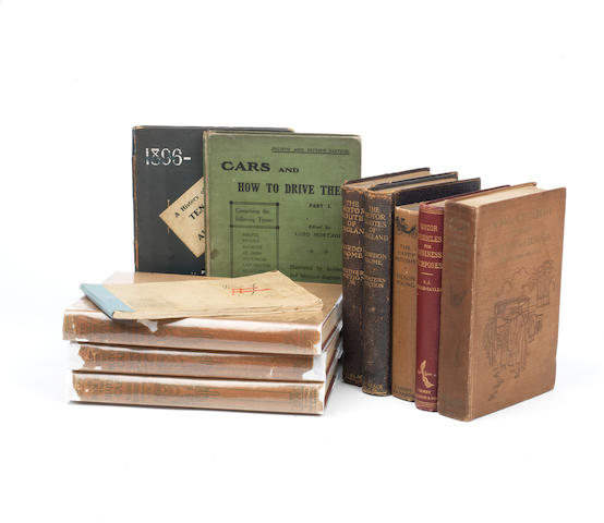Assorted books relating to early motoring subjects,   ((11))