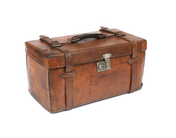 A Veteran leather tool bag,